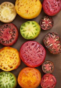 Colorful Assorted Heirloom Tomatoes