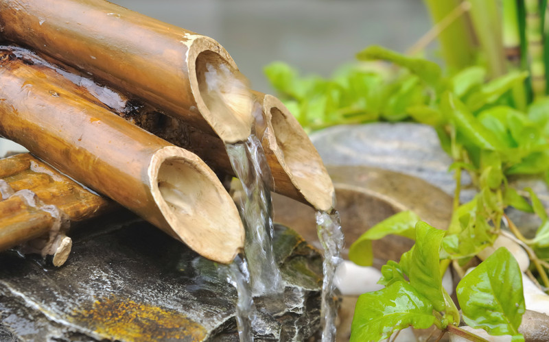 how to make small bamboo fountain